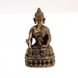 Buda de la medicina bronce miniatura