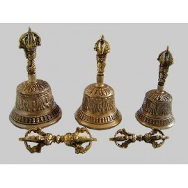 Campana tibetana + dorje (mediana)
