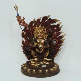 Mahakala cobre y oro 21 cms