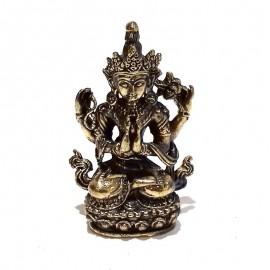 Chenrezig bronce en miniatura