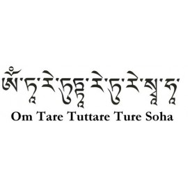 Mantra Tara verde + bolsita seda
