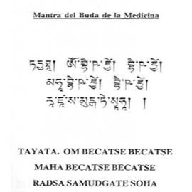 Mantra Buda de la Medicina + bolsita de seda