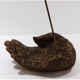 Incensario Mano de Tara en piedra