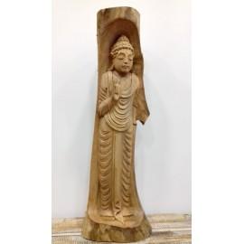 Buda en tronco de madera 50 cms.