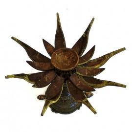 Quemador de aceite flor de loto grande